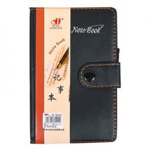 Блокнот 14,5*8,5 см с ручкой в обложке  кож/зам, клетка 6102 Без бренда