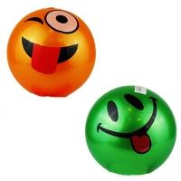 Мяч резиновый детский Смайлик в сетке 9-372 (25555)