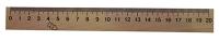 Линейка деревянная шелкография 20см 103007