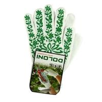Перчатки Подсолнух с ПВХ рисунком белые DOLONI 620 Цена за пару