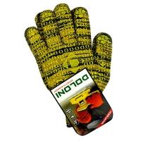 Перчатки Рябушка с ПВХ рисунком желтые DOLONI 4242 Цена за пару