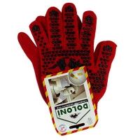 Перчатки Стандарт с ПВХ рисунком красные DOLONI 4216 Цена за пару