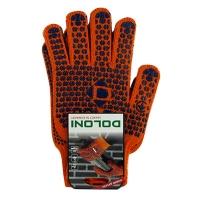 Перчатки Стандарт с ПВХ рисунком 2-х сторонние оранжевые DOLONI 584 Цена за пару