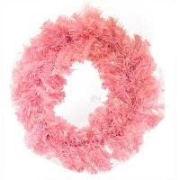 Рождественский венок новогодний розовый 5-102 (6261)