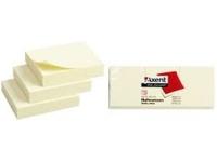 Блок бумаги для записей 50*40мм 100л с липким слоем желтый Axent 2311-01-А