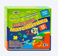 """Пазлы 00312 (10шт) Стратег, """"Веселая математика"""", укр  в кор-ке, 25-25-5см"""