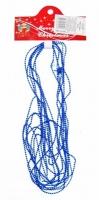 Бусы на елку 2 мм синие 5м в упаковке 90573-PN