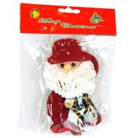 Новогодняя подвеска Дед Мороз 14*10см фетр 91668-PN
