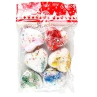 Набор елочных игрушек Сердце 5*5*2см 6шт 91739-PN