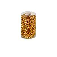 Бусы на елку 7,5 мм золото 5,5м в тубусе 91543-PN