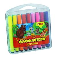 Фломастеры 18 цветов TIKI Jumbo 52710-ТК