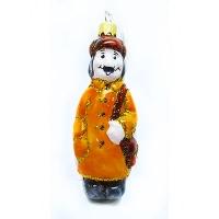 Новогодняя игрушка формовая стекло Печкин 12см 1149