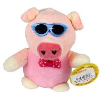 Брелок мягкий  Свинка большая в очках