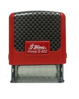 Оснастка для штампов 14*38мм Копия верна карбон красный S852