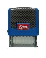 Оснастка для штампов 14*38мм Копия верна карбон синяя С-852