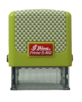 Оснастка для штампов 14*38мм карбон зеленая S852