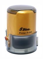 Оснастка автомат для круглой печати d 42мм золотой песок R-542