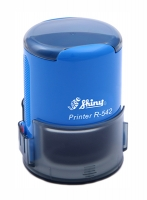 Оснастка автомат для круглой печати d 42мм синяя R-542