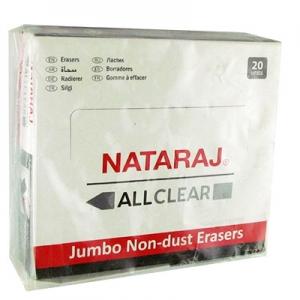 Ластик Nataraj allclear черная 20шт в коробке 202301008