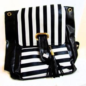 Рюкзак кожзам женский в полоску  8-269 (G1-11821)