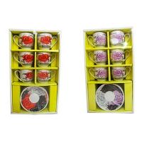 Чашки набор на 6 персон с блюдцами  8-199