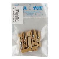 Прищепка 3,5 см деревянная 6шт в пакете 10-45 (23516)