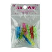 Прищепка 3,5 см пластик прозрачная 10 шт в пакете  10-46 (23516)