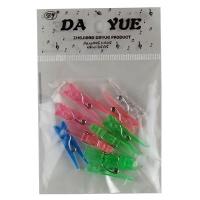 Прищепка 3 см пластик прозрачная 10 шт в пакете 10-48 (23516)