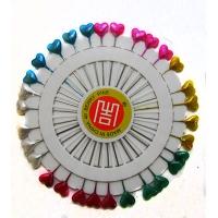 Булавки сердечки цветные 360шт 5см цена за упак 8-241-1