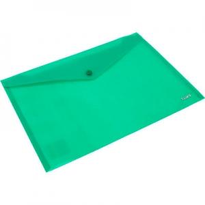Папка на кнопке А4 Axent зеленая непрозрачная 1412-25-А