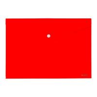 Папка на кнопке А4 Axent красная непрозрачная 1412-24-А