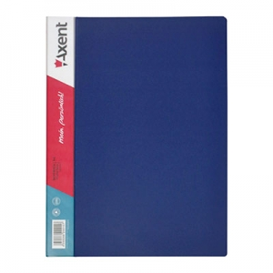 Папка А4 с 20 файлами синяя 1020-02-А