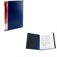 Папка А4 с 30 файлами синяя 1030-02-А