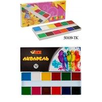 Краски акварельные 12цв ТІКІ к/у 50109-ТК