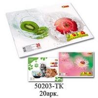 Альбом для рисования А4 20л скоба 110 г/м2 TIKI 50203-TK