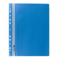 Скоросшиватель А4 Economix глянец с перфорацией пастель голубая Е31510-82