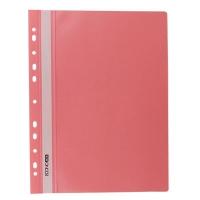 Скоросшиватель А4 Economix глянец с перфорацией пастель розовая Е31510-89