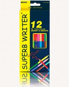 Карандаши цветные 12шт 24цв двухсторонние MARCO 4110-12СВ
