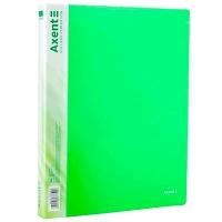 Папка А4 на 2 кольца 25мм зелёная прозрачная 1207-26-А