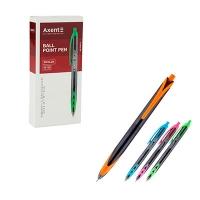 Ручка шариковая синяя автомат Bicolor Axent AB1089-02-A