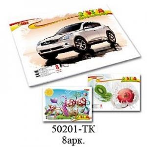 Альбом для рисования А4 8л скоба 110 г/м2 TIKI 50201-TK