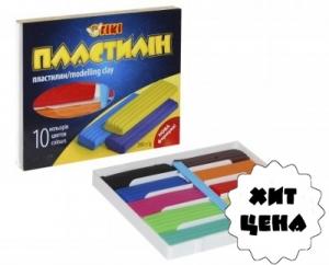 Пластилин 10цв 200гр TІКІ 52101-ТК