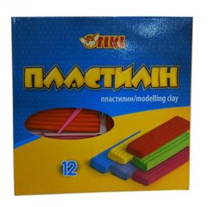 Пластилин 12цв 240гр TІКІ 52102-ТК