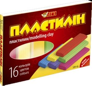 Пластилин 16цв 320гр TІКІ 52103-ТК