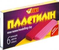 Пластилин 6цв 120гр+ стек TІКІ 52104-ТК