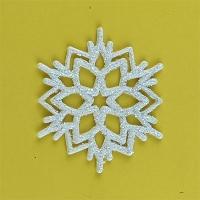 Новогодняя подвеска Снежинка №0 6см белая микс цена за упак 10шт