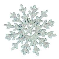 Новогодняя подвеска Снежинка №1 8,5см белая цена за упак 10шт