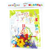 Мозаика с круглыми фишками 120 деталей доска 27,5*21,5см KW-30-016