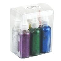 Клей с блестками в бутылочке разноцветный упак 6шт 9-153 (24782)