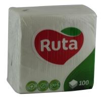 Салфетки бумажные Ruta Кухня 33*33 100л 1шар 1478